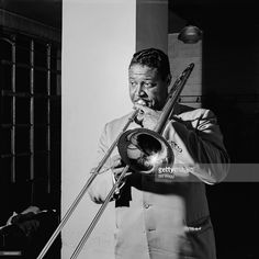 American jazz trombonist Henry Coker (1919 - 1979), circa 1960.