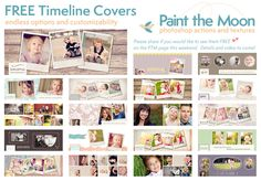 Facebook Timeline Business Page Cover Templates  Paint the Moon Photoshop Actions