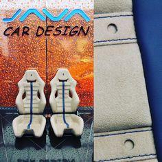 FERRARI 488 GTS by JAVA CAR DESIGN grey and blue interior seats