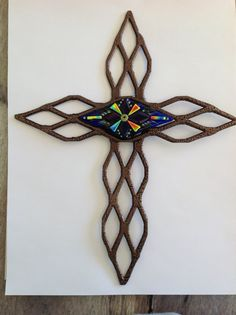 Metal and Fused Glass Cross