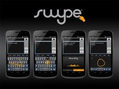 Aunque muchas terminales modernas lo cuentan por default, no podemos arrancar el año sin tener Swype instalado. Desde ya podemos asegurar que se trata del mejor teclado para Android disponible, sin pelos en la lengua. Mientras que cada vez más nos acostumbramos al teclado QWERTY de estos terminales, Swype nos trae una propuesta diferente.