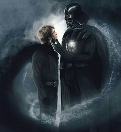 Darth Vader and Luke Skywalker - Star Wars Saga, Vader Star Wars, Star Wars Fan Art, Star Wars Rebels, Star Trek, Images Star Wars, Star Wars Pictures, Luke Skywalker, Sith