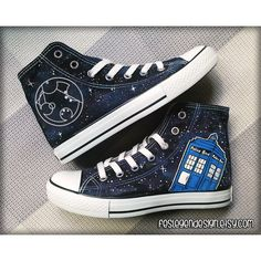 Your Name in Gallifreyan 'Custom Converse' / Doctor Who / Tardis... ($75) ❤ liked on Polyvore featuring shoes, sneakers, doctor who, converse, nebula shoes, galaxy print shoes, planet shoes, converse trainers and cosmic shoes