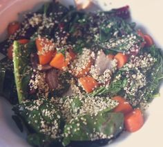 "Sauteed Coconut Greens with Hemp Seeds Recipe  Our favourite nutritionist, Joy McCarthy gets creative with her @OrganicsLive box contents and comes up with a masterpiece.   A flavourful and detoxifying super-dish, this gorgeous medley includes fibre, flavanoids, sulfur, chlorophyll, iron, magnesium, potassium, zinc, vitamin C, B vitamins and beta-carotene.   Joy says ""This lunch was truly an local organic superfood meal with nearly ALL ingredients from my fresh box I received from Organics…"