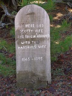 Funny Tombstones This is More Like it!... Com on lets Repurpis the dirt from The 5 Gal. containers into Boot hill Cemetery...