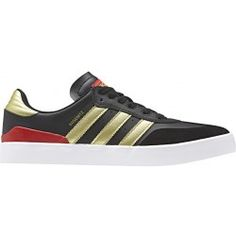 Chaussure Adidas Skateboarding Busenitz Vulc RX Black Gold White Skate Shoes 4df7d91e9