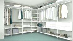 clothing rack ikea A touch of luxury – 27 ideas for open wardrobe systems Ikea Open Wardrobe, Ikea Closet, Bedroom Wardrobe, Closet Storage, Room Closet, Corner Closet, Walk In Closet, Elvarli Ikea, Wardrobe Systems