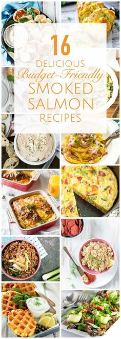 This collection of 16 Delicious Budget-Friendly Smoked Salmon Recipes will let you enjoy smoked salmon without breaking the bank. From appetizers to brunch to pastas you'll find something for any taste. You can even make your own smoked salmon! Perfect recipes for Mother's Day celebration | Imagelicious