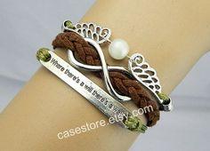 Crystal bracelet game bracelet Mockingjay by charmcover on Etsy, $8.99