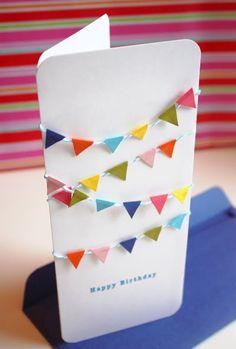 Mini bunting birthday card   How About Orange