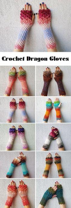 Crochet Dragon Gloves