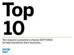 The Top 10 reasons why customers choose SAP HANA