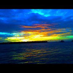 A sunset off the coast of Key West, Florida