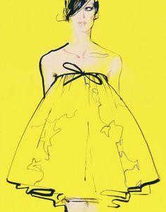 Ilustrações de Moda por David Downton | Design Innova