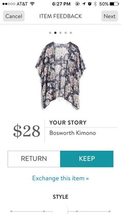 Stitch Fix Your Story Bosworth Kimono