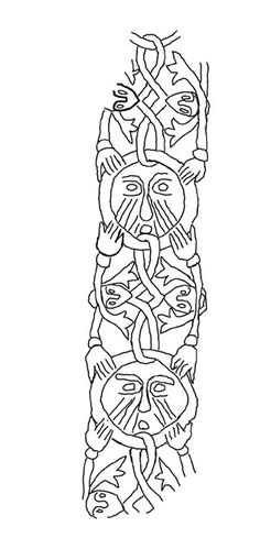 Embroidery from the Tenth Century Viking Grave at Mammen Denmark. Technical drawings and usable outlines.