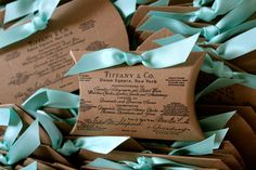SET OF 50  Tiffany & Co Inspired Pillow Boxes by JacquelynVaccaro, $75.00