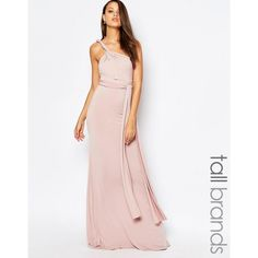 TFNCTall WEDDING Multiway Maxi Dress (€70) ❤ liked on Polyvore featuring dresses, wedding dresses and pink