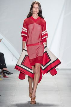 #Red #Look from the #LacosteSS15 #Fashion #Show designed by #FelipeOliveiraBaptista - #NYFW