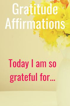 Tips on how to effectively use gratitude affirmations.  I have included affirmation examples and lots of ideas to  really help you develop a gratitude mindset.