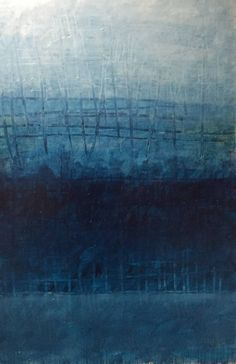 Buy City Scape Night, a Oil on Canvas by Joyce Dunn from Italy. It portrays: Abstract, relevant to: blue, Rothko, deep, grid, modern Each painting has a journey of its own. I'm not even sure I have finished this painting.  But I thought I'd add this to my portfolio.  The deep richness of the dark blue oil paint is a mixture of turquoise, yellow ochre and magenta.  In the beginning it was mostly magenta though through the journey I added more and more blue as I notice blue paintings ar...