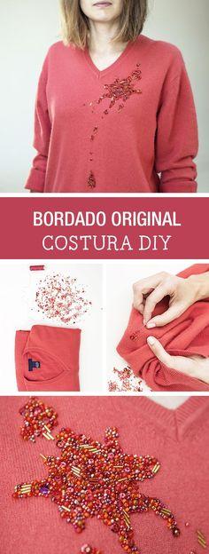 Tutorial DIY - CÓMO BORDAR UN SUÉTER en DaWanda.es