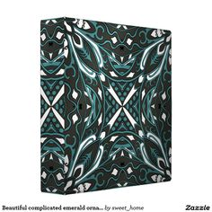 Beautiful complicated emerald ornament. 3 ring binder  Moroccan ornament  make interior unique and add aesthetics sense. Ornament create in oriental tradition. #Home #decor #Room #accessories #Interior #decorating #Idea #Styles #abstract
