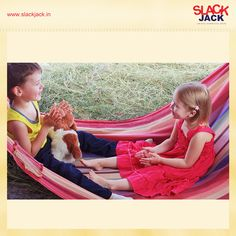 Kids love hammocks - and they make great birthday gifts! Gift one today!  #HammocksforKids #GiftOnline #GiftsforKids #Playtime