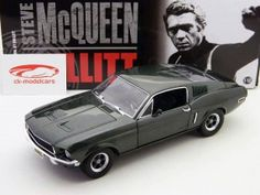 Ford Mustang GT Movie Car Bullitt, Steve McQueen 1968 1:18 by Greenlight | #modelcars | #classic