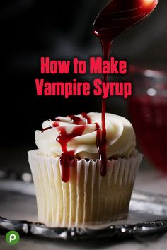 This syrup is easy to make, and it's versatile enough to drizzle over cupcakes, ice cream, cheesecake, and other desserts. You can even use it as a garnish for cocktails and other beverages. Visit us and get easy-to-follow instructions for this and more fun Halloween crafts and recipes. Most of the supplies and ingredients are available at your neighborhood Publix. #halloweenrecipe