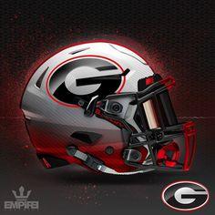 I like this helmet better. New Nfl Helmets, Football Helmet Design, College Football Helmets, Sec Football, Nfl Football Players, Football Uniforms, Football Gear, Georgia Bulldog Mascot, Georgia Bulldogs Football