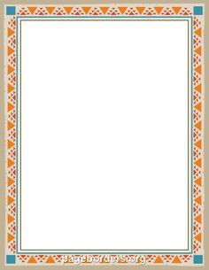 Free native american border templates including printable border paper and clip art versions. File formats include GIF, JPG, PDF, and PNG. Frame Border Design, Page Borders Design, Borders For Paper, Borders And Frames, Borders Free, Printable Border, Printable Labels, Printables, Border Templates