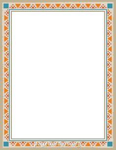 Printable Aztec border. Free GIF, JPG, PDF, and PNG ...