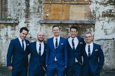 ELLEN + STU // #groom #groomsmen #bestman #suit #tie #navy #blue #classic…
