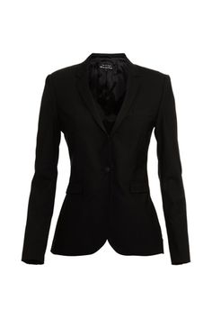 Womens Textured 3/4 Sleeve Open Blazer Jacket | Black blazers The