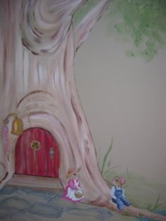 A mural done for a child's room.