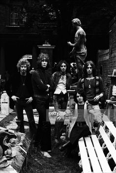 Bill Bruford, Chris Squire, Peter Banks, Jon Anderson and Tony Kaye) pose for a portrait in July 1969 in London, Great Britain.