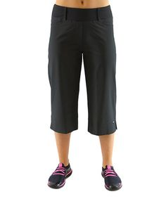 Take a look at this Black Stroll Capri Pants - Women & Plus by Ryka on #zulily today!