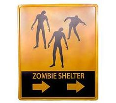 Zombie Shelter Sign #giftscabinfever