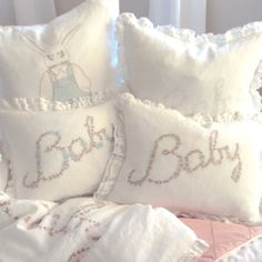 cute touch ----- Pom Pom at Home Crib Bedding Baby Pillow Sham @Layla Grayce