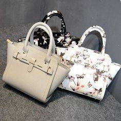 Floral Trapeze Handbag