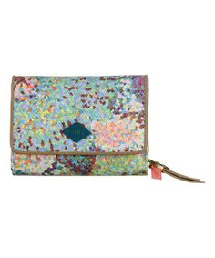 Look at this #zulilyfind! Peach & Blue Pastel Wallet #zulilyfinds