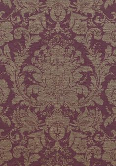 MUMFORD, <br /> Eggplant, <br /> T7662, <br /> Collection Damask Resource 3 from Thibaut