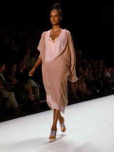 Sara Nuru at Irina Schrotter Spring/Summer 2013 - Mercedes Benz Fashion Week - http://olschis-world.de/  #IrinaSchrotter #Womenswear #Fashion