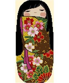 Japanese Kokeshi Doll 2 - MICHIKO. $5.00, via Etsy.
