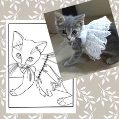 Custom Coloring PagePet PortraitCustom Pet Drawing by CristinApril