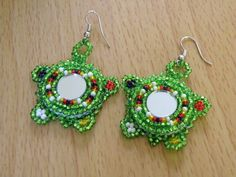 Native American Turtle Beaded Earrings by Gone2Pieces