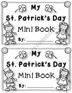 St. Patricks Day Fun St. Patricks Day Mini Book product from Kool-in-KinderLand on TeachersNotebook.com