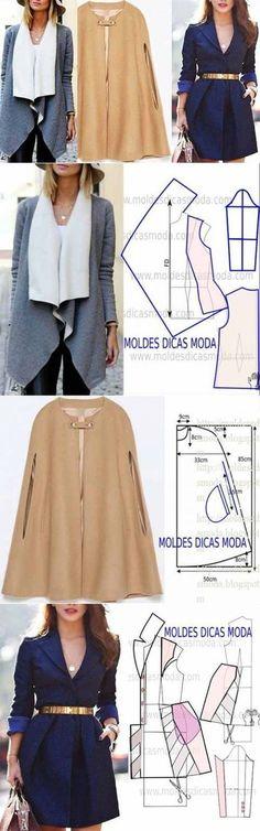 ¡El CORTE A LA MODA 3-TOP!!! ** la Modelación de la ropa de abrigo.