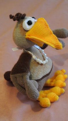 #Crow amigurumi. Soft #toy with a yellow beak. Handmade. Plush toy. Hand-made…